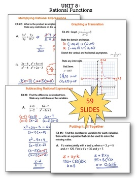 Algebra 2: A Year of Smartboard Lessons Bundle