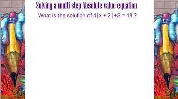 LONG HAUL: Algebra 2 Absolute Value Smartboard #8