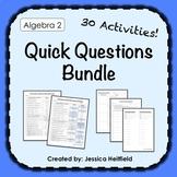Algebra 2 Activities Bundle: Fix Common Mistakes!