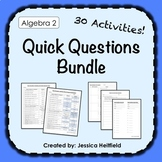 Algebra 2 Activities Bundle: Fix Common Mistakes!