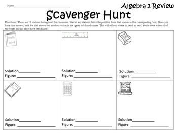 Algebra 2 Back to School Review {Algebra 2 Review Beginning of the Year Activity