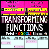 Function Transformations Activity - print and digital