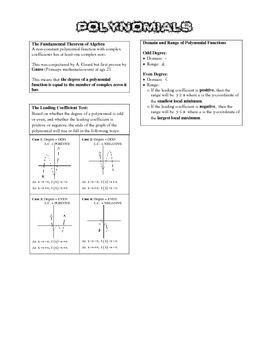 Algebra 2 BIG IDEAS - Polynomial Functions
