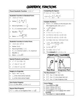Algebra 2 BIG IDEAS - Quadratic Functions