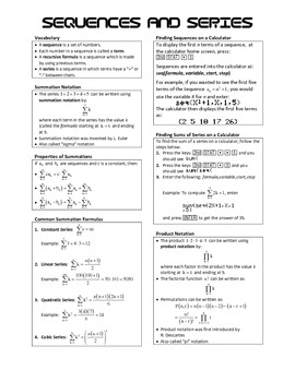 Algebra 2 BIG IDEAS - Sequences and Series