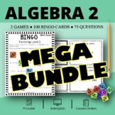 Algebra 2 BUNDLE: Math Bingo Review Games