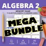 Algebra 2 BUNDLE: Math Memory Games