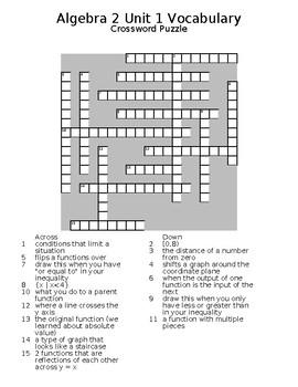 Algebra 2 Basics Vocabulary Puzzles by Seema Sharma   TpT