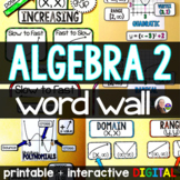 Algebra 2 Word Wall