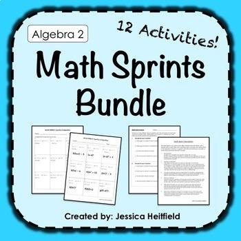 Algebra 2 Activities Bundle: Math Sprints!