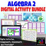 Algebra 2 Bundle of 20 Activities for GOOGLE Slides™ for A
