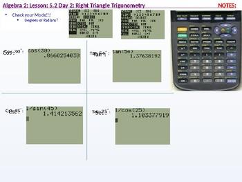 Algebra 2: CU 10: 5.2 Day 2: Right Triangle Trigonometry