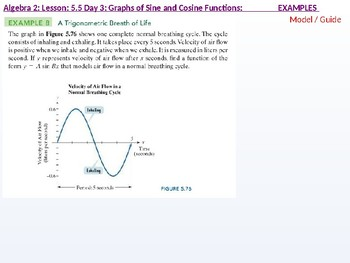 Algebra 2: CU 10: 5.5 Day 3: Graphs of Sine and Cosine Functions