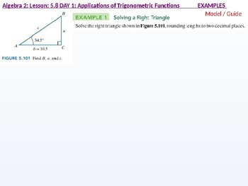 Algebra 2: CU 10: 5.8 Day 1: Applications of Trigonometric Functions
