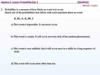 Algebra 2: CU 11: Probability Day 1: Basic Probability