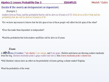 Algebra 2: CU 11: Probability Day 3: The Multiplication Rule