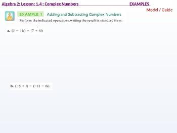 Algebra 2: CU 2: 1.4: Complex Numbers