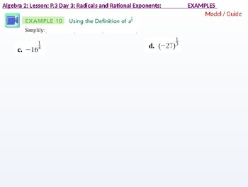 Algebra 2: CU 2: P.3 Day 3: Radicals and Rational Exponents