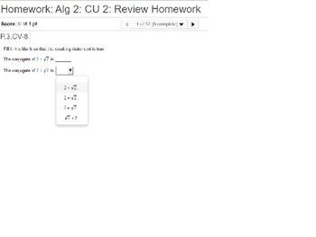 Algebra 2: CU 2: Review: Polynomial Expressions