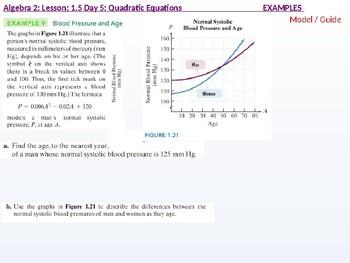 Algebra 2: CU 3: 1.5 Day 5: Quadratic Equations