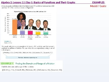 Algebra 2: CU 3: 2.1 Day 1: Basics of Functions and their Graphs