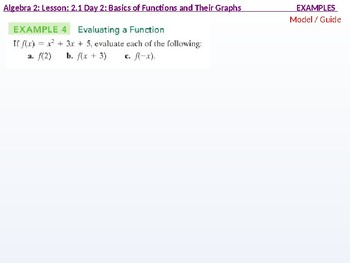 Algebra 2: CU 3: 2.1 Day 2: Basics of Functions and their Graphs