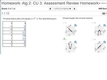 Algebra 2: CU 3: Review
