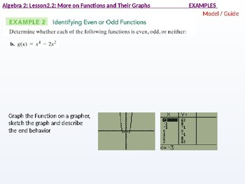 Algebra 2: CU 4 and 5: 2.2 Day 1: More on Functions and their Graphs