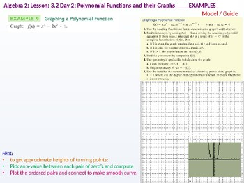 Algebra 2: CU 4 and 5: 3.2 Day 2: Polynomial Functions and their Graphs