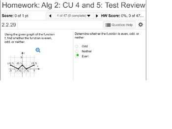 Algebra 2: CU 4 and 5 Review: Polynomial and Radical Functions