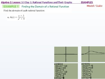 Algebra 2: CU 6: 3.5 Day 1: Rational functions and their Graphs