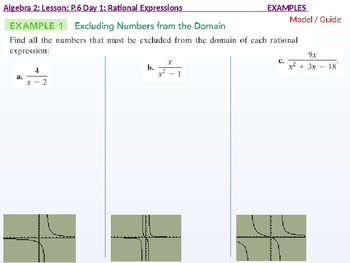 Algebra 2: CU 6: P.6 Day 1: Rational Expressions