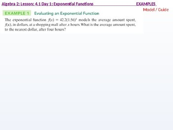 Algebra 2: CU 7: 4.1 Day 1: Exponential and Logarithmic Functions