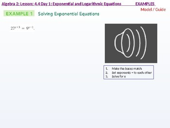 Algebra 2: CU 7: 4.4 Day 1: Exponential and Logarithmic Equations