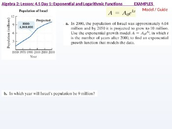 Algebra 2: CU 7: 4.5 Day 1: Exponential Growth and Decay