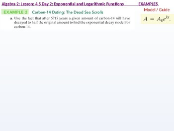 Algebra 2: CU 7: 4.5 Day 2: Exponential Growth and Decay