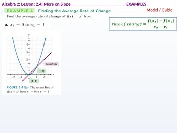 Algebra 2: CU 9: 2.4: More on Slope