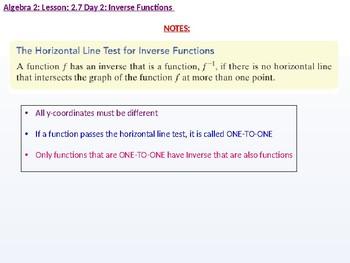 Algebra 2: CU 9: 2.7 Day 2: Inverse Functions