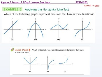 Algebra 2: CU 9: 2.7 Day 2: Inverse Functions