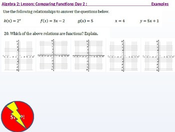 Algebra 2: CU 9: Comparing Functions Day 2