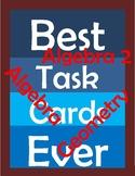 Math Task Cards for Algebra 2
