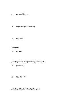 Algebra 2 Chapter 1 Unit: Equations and Statistical Graphs
