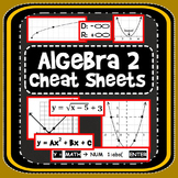 Algebra 2 Cheat Sheets: 11 reference printables