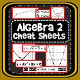 Algebra 2 Cheat Sheets