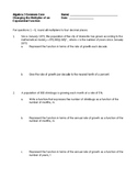 Algebra 2 Common Core - Changing the Multiplier of an Expo