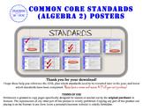 Algebra 2 Common Core Standards Posters (California Standa