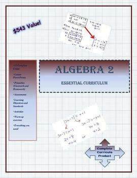 My Algebra 2 Complete Curriculum