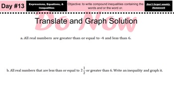 LONG HAUL: Algebra 2 Compound Inequalities cont Smartboard #6