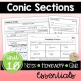 Conic Sections Essentials (Algebra 2 - Unit 10)