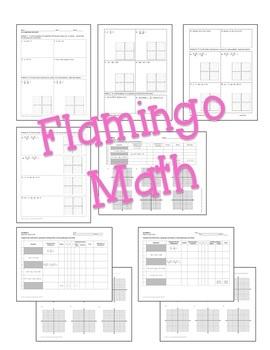 Algebra 2 Conic Sections Homework Bundle
